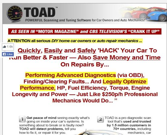 Toad Scanning Tool